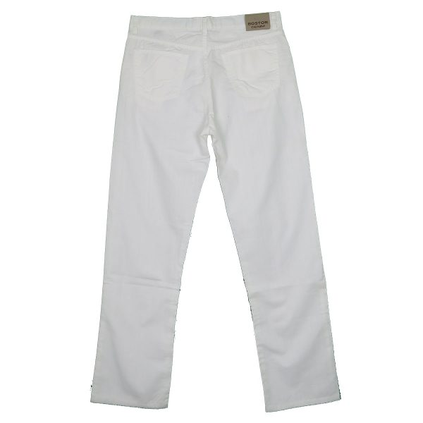 Boston 105-82-01 Ανδρικό Παντελόνι Λευκό 4