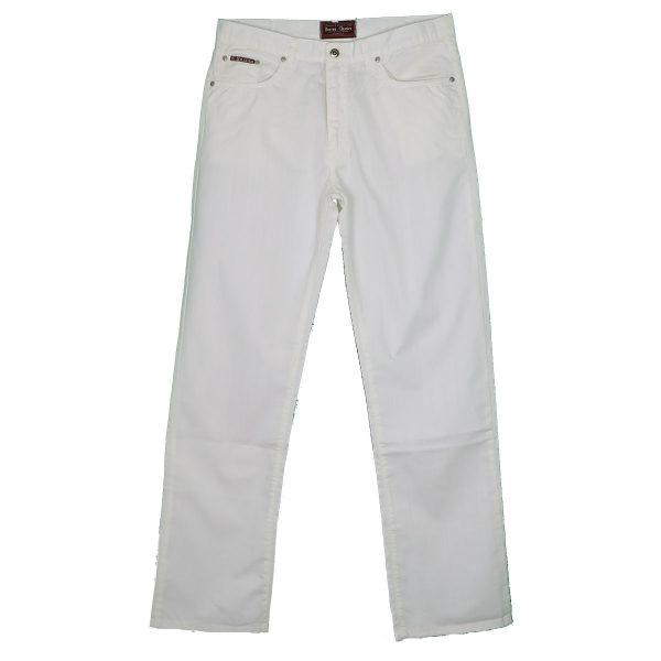 Boston 105-82-01 Ανδρικό Παντελόνι Λευκό 3