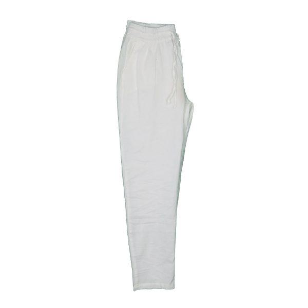 Privato 8335 Ανδρική Παντελόνα Λινή Λευκό 4