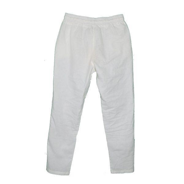 Privato 8335 Ανδρική Παντελόνα Λινή Λευκό 3