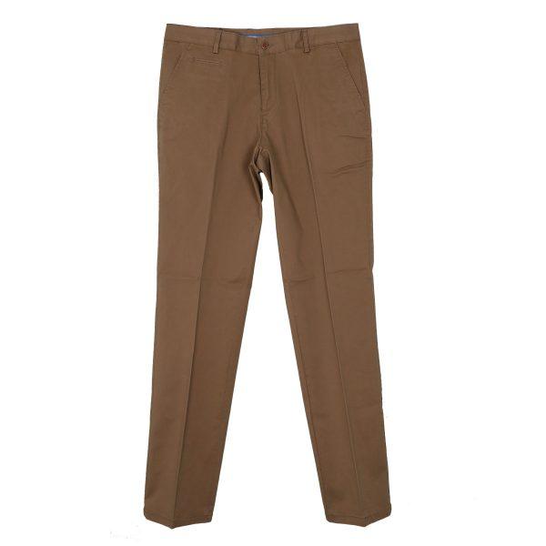 NEW YORK TAILORS 004.17.HUGO COL 52 Ανδρικό Παντελόνι Καπαρντίνα Χακί 3