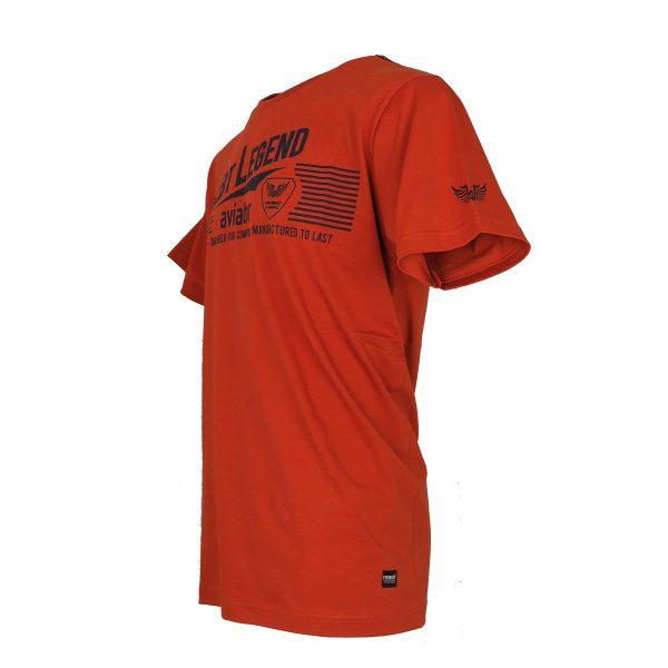 Everbest 212-925 Ανδρικό Μπλουζάκι Με ΣτάμπαΠορτοκαλί 4