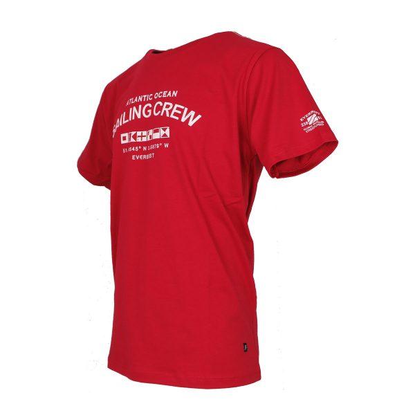 Everbest 212-802-0 Ανδρική Μπλούζα Με Στάμπα Κόκκινο 4