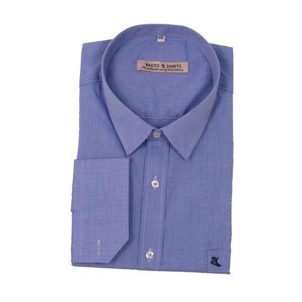 BADES 10.8500.35419 Ανδρικό πουκάμισο Σιέλ 3