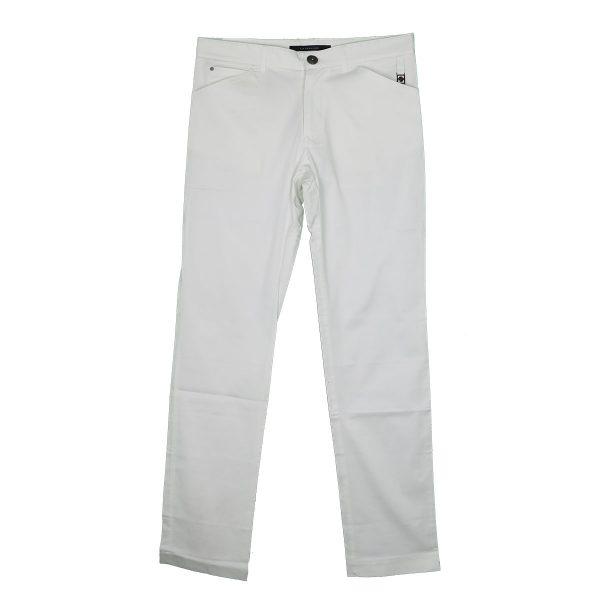 La Stagione 09-870 Ανδρικό Παντελόνι Λευκό 3