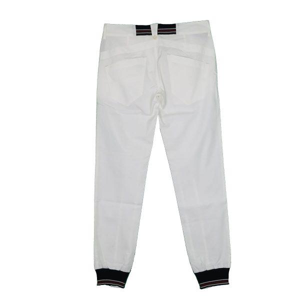 Me And My 1013-10 Ανδρικό Παντελόνι Με Λάστιχο Λευκό 4