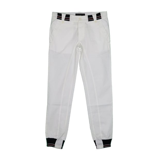 Me And My 1013-10 Ανδρικό Παντελόνι Με Λάστιχο Λευκό 3