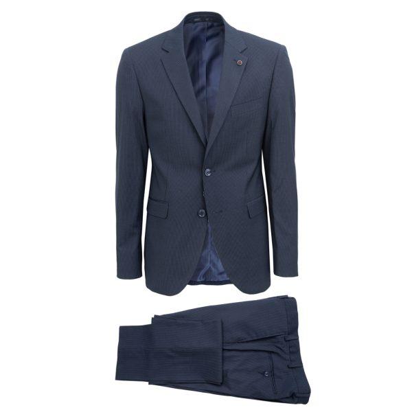 NEW YORK TAILORS 001.18.BELLO Ανδρικό Κοστούμι Μπλέ Σκούρο 2