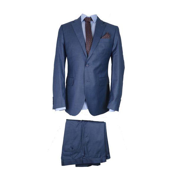 NEW YORK TAILORS 001.17 ALBERTO Ανδρικό Κοστούμι Μπλε Ανοιχτό 4