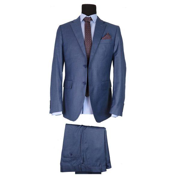 NEW YORK TAILORS 001.17 ALBERTO Ανδρικό Κοστούμι Μπλε Ανοιχτό 3
