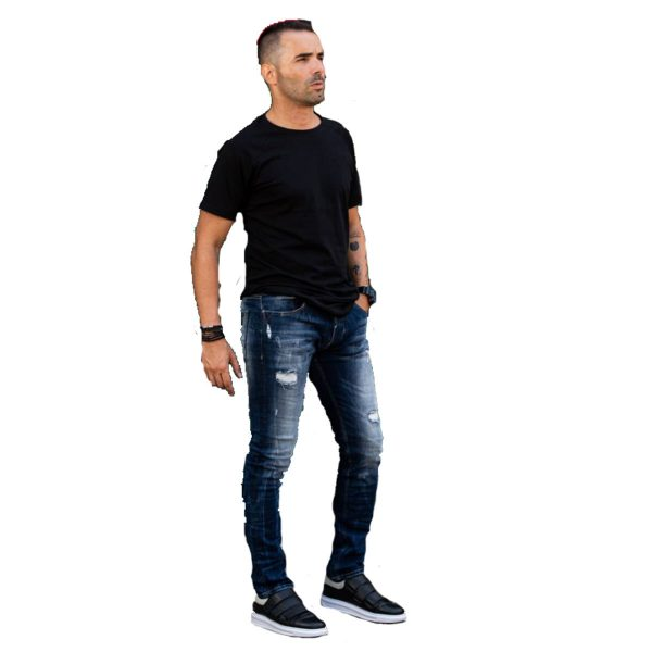 Profil 9005 Ανδρικό Παντελόνι Τζίν Μπλέ 5