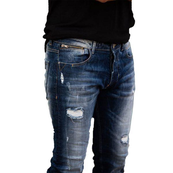 Profil 9005 Ανδρικό Παντελόνι Τζίν Μπλέ 4
