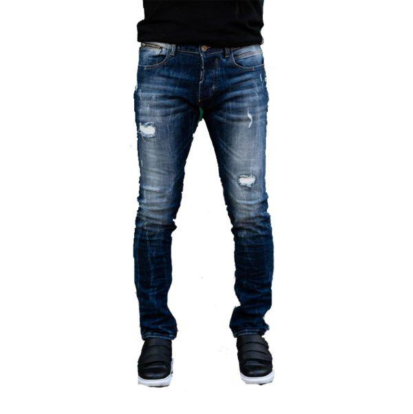 Profil 9005 Ανδρικό Παντελόνι Τζίν Μπλέ 3