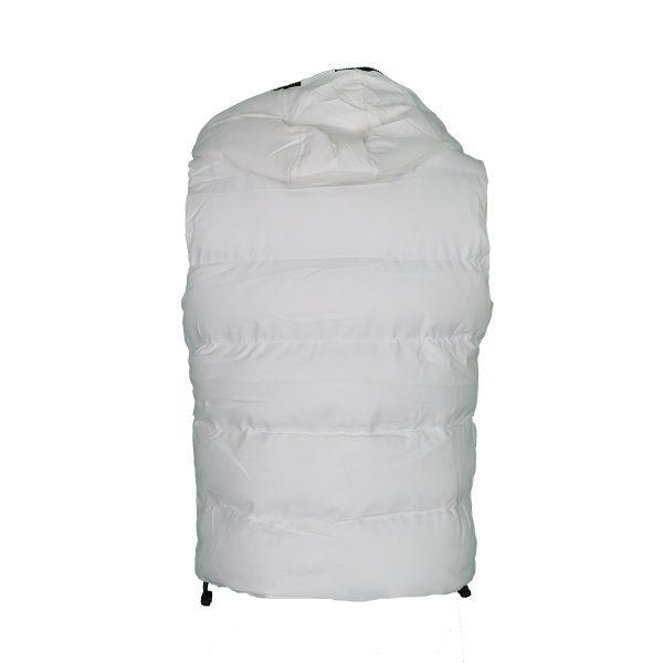 Privato AA110007-3 Ανδρικό Αμάνικο Μπουφάν Με Κουκούλα Άσπρο 4