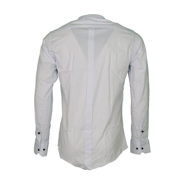 Endeson 1050 Ανδρικό Πουκάμισο Με Μάο Γιακά Λευκό 4