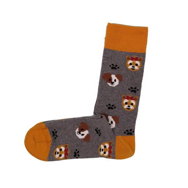 Privato Σκυλάκια Ανδρική κάλτσα Γκρί 3