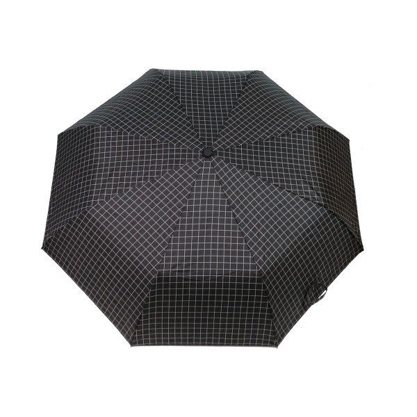 PRIVATO OY03-YS2-1 ομπρέλα με αυτόματο άνοιγμα καρώ μαύρη 3