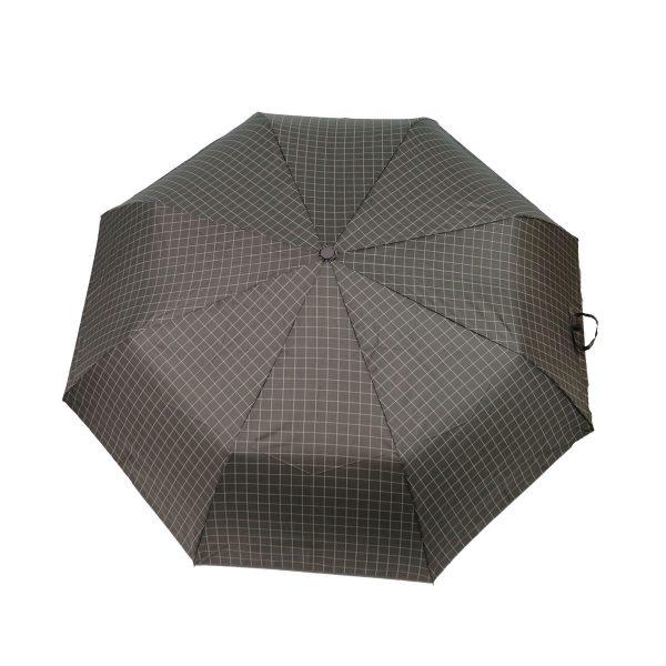 PRIVATO OY03-YS2-1 ομπρέλα με αυτόματο άνοιγμα καρώ γκρι 3