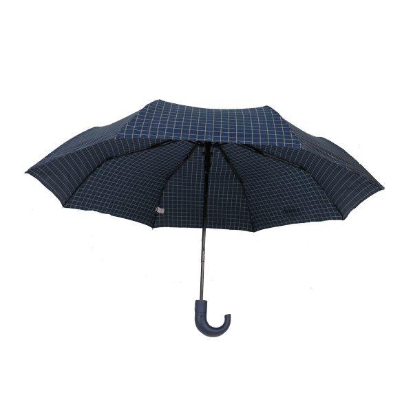 PRIVATO OY03-YS2-1 Ομπρέλα Με Αυτόματο Άνοιγμα καρώ μπλε 4