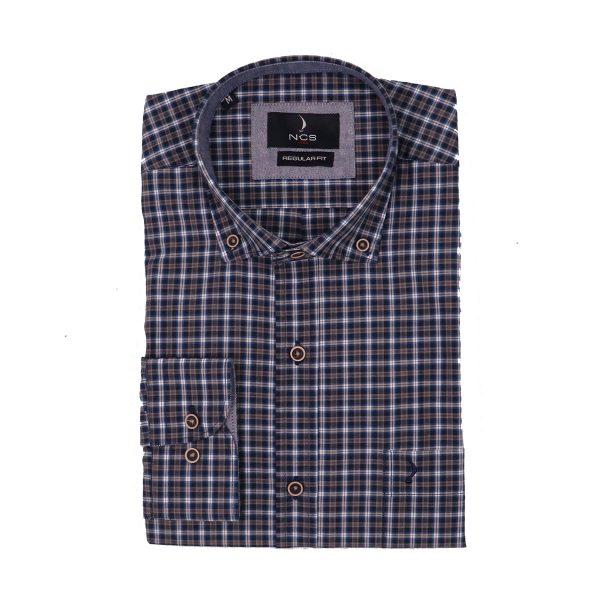 NCS N221-0335 Ανδρικό Καρώ πουκάμισο μπλέ 3