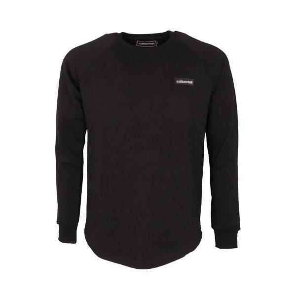 Cotton 4all 22-309 Ανδρική Μπλούζα Φούτερ Μαύρο 5