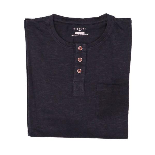 Tiffosi 10004878-790 Ανδρική Μπλούζα Μπλέ Σκούρα 4