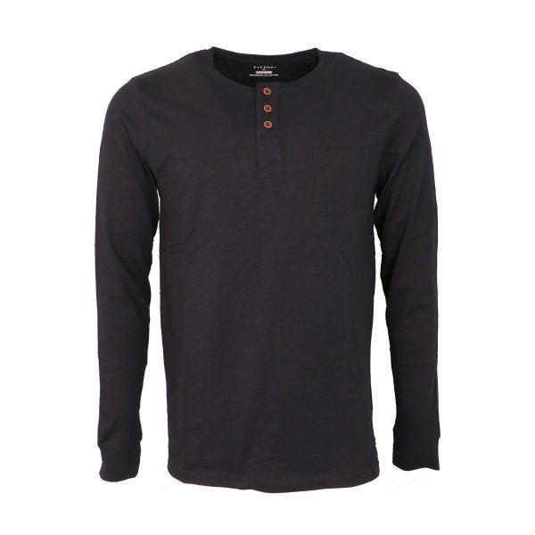 Tiffosi 10004878-000 Ανδρική Μπλούζα Με κουμπιά Μαύρο 3