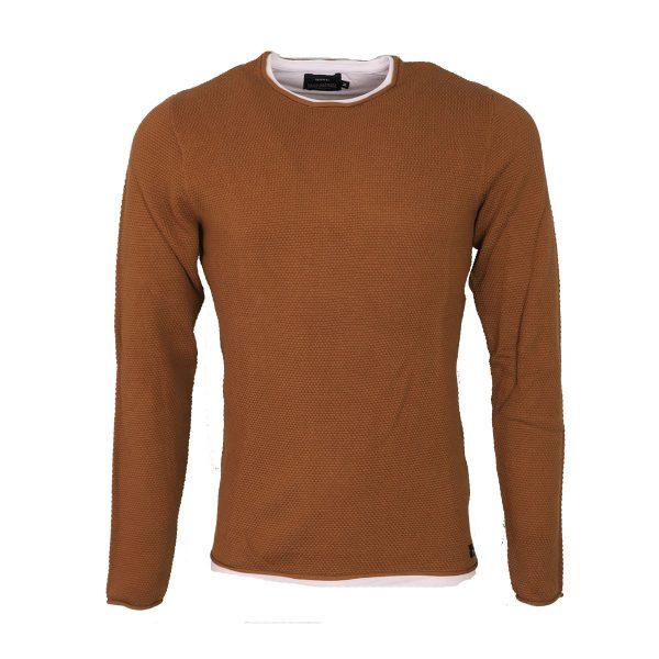 Tiffosi 10038837-201 Ανδρική Μπλούζα Πλεκτή Κάμελ 3
