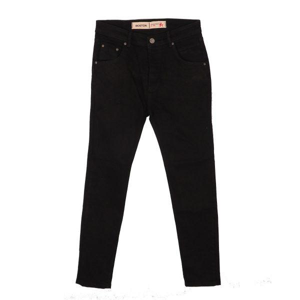 BOSTON 2121801 Ανδρικό παντελόνι Τζίν Μαύρο 3