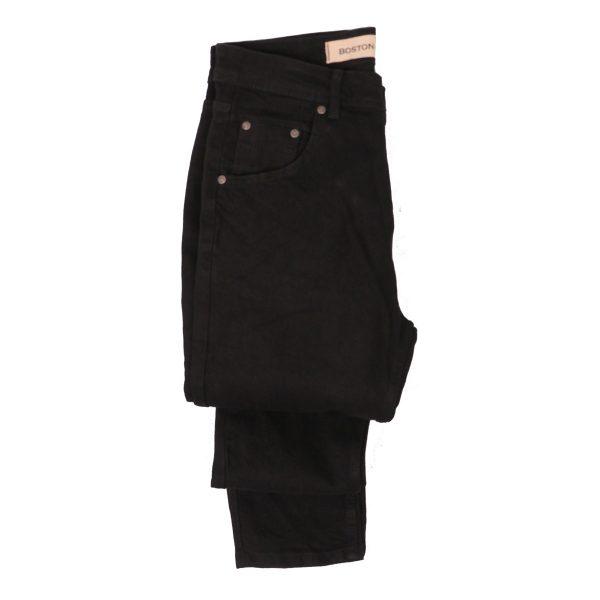 BOSTON 2121801 Ανδρικό παντελόνι Τζίν Μαύρο 4