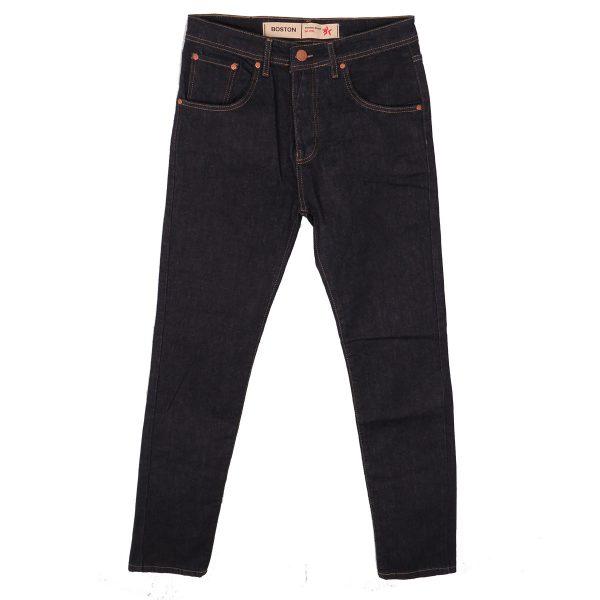 BOSTON 21218510 Ανδρικό Παντελόνι Τζίν Ελαστικό Μπλέ Σκούρο 3