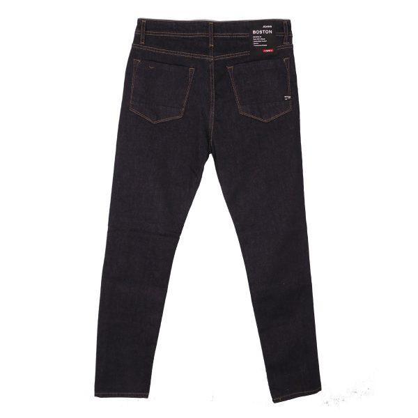 BOSTON 21218510 Ανδρικό Παντελόνι Τζίν Ελαστικό Μπλέ Σκούρο 5