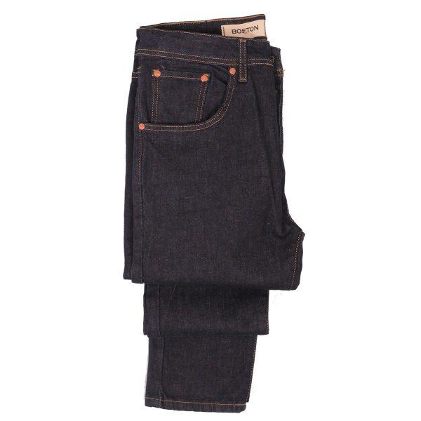 BOSTON 21218510 Ανδρικό Παντελόνι Τζίν Ελαστικό Μπλέ Σκούρο 4